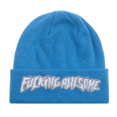 FUCKING AWESOME CHROME BEANIE // BLUE