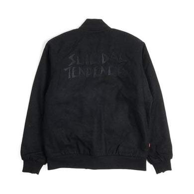 OBEY X SUICIDAL TENDENCIES BOMBER JACKET // BLACK
