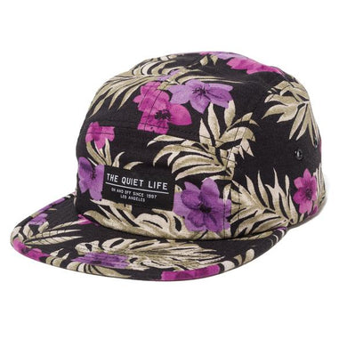 THE QUIET LIFE HAWAIIAN FLORAL 5 PANEL CAMPER HAT // FLORAL