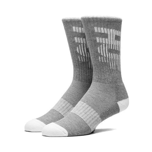 HUF 10K PERFORMANCE CREW SOCK // GREY HEATHER-The Collateral