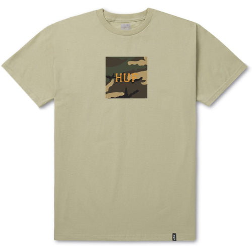 HUF AMBUSH CAMO BOX LOGO TEE // SAND-The Collateral