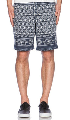 HUF BANDANA FLEECE SHORT // NAVY-The Collateral