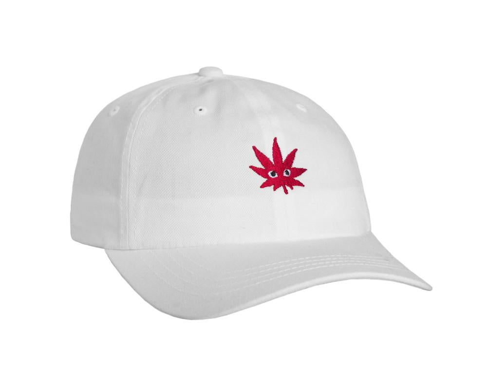 HUF CLEAR EYES CURVED BRIM HAT // WHITE-The Collateral
