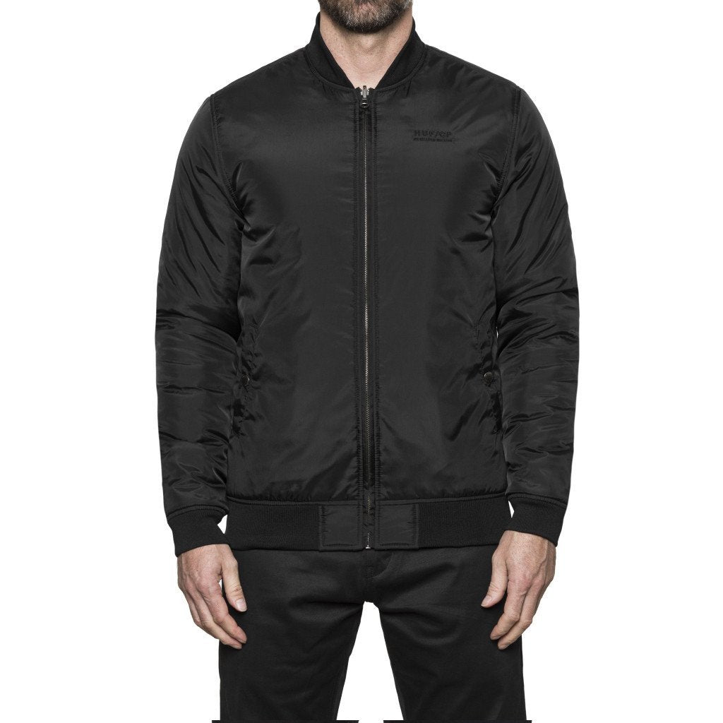 HUF CLEON REVERSIBLE BOMBER JACKET // BLACK-The Collateral