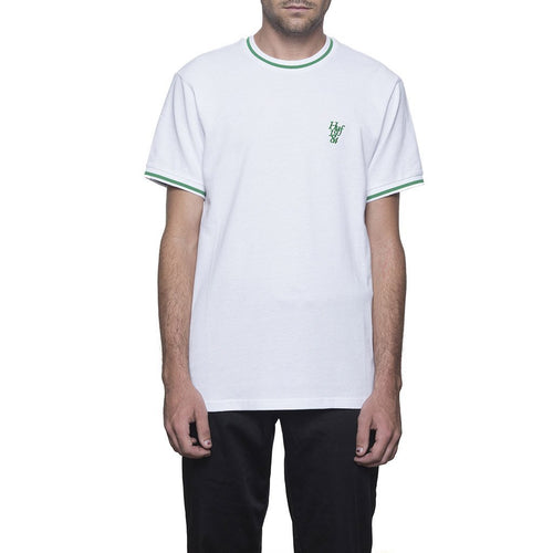 HUF COUNTRY CLUB PIQUE CREW \\ WHITE-The Collateral