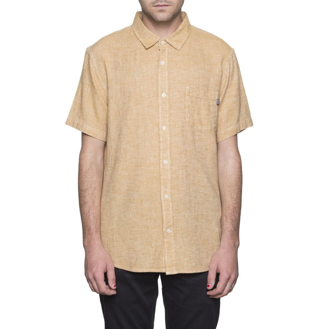 HUF COURSE S/S CHAMBRAY SHIRT // NATURAL-The Collateral