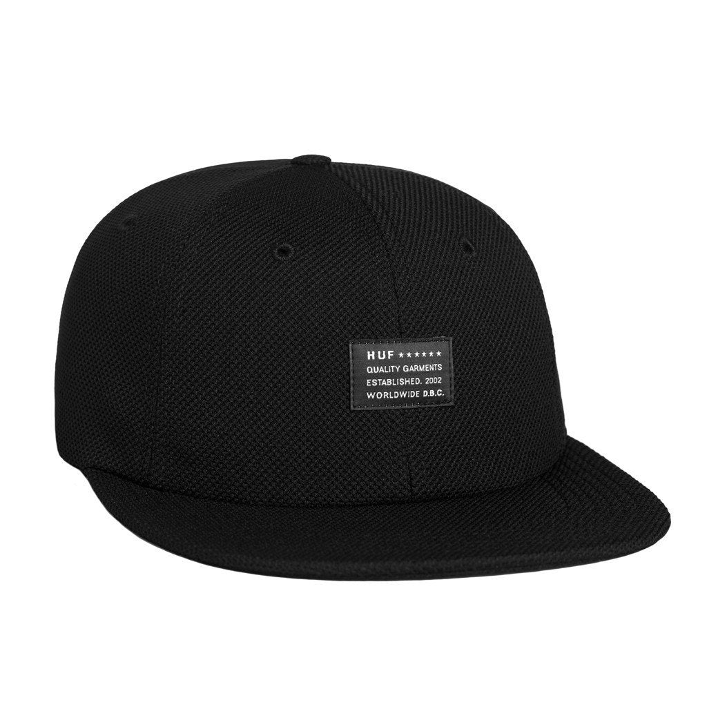 HUF DIAMOND KNIT 6 PANEL // BLACK-The Collateral