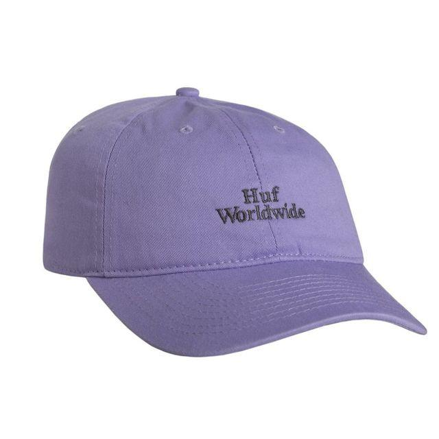 HUF DOM WORLDWIDE CURVED BRIM HAT // BABY PURPLE/BLUE-The Collateral