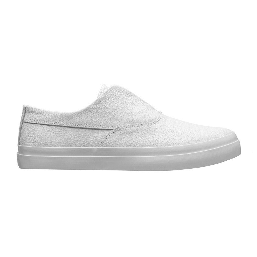 edfd146108a4 HUF DYLAN SLIP ON    WHITE LEATHER-The Collateral