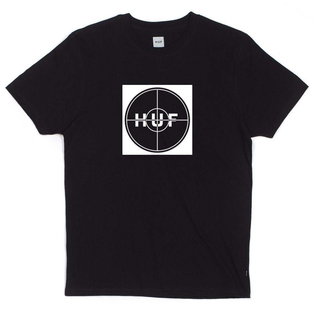 HUF ENEMY BOX LOGO TEE \\ BLACK-The Collateral