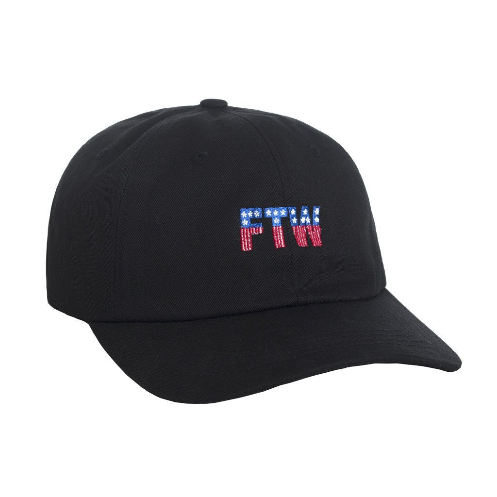 HUF FTW 6 PANEL CURVE BRIM HAT // BLACK-The Collateral