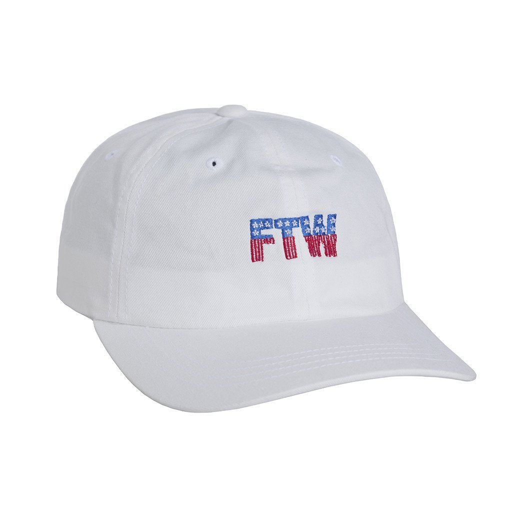 HUF FTW 6 PANEL CURVE BRIM HAT // WHITE-The Collateral