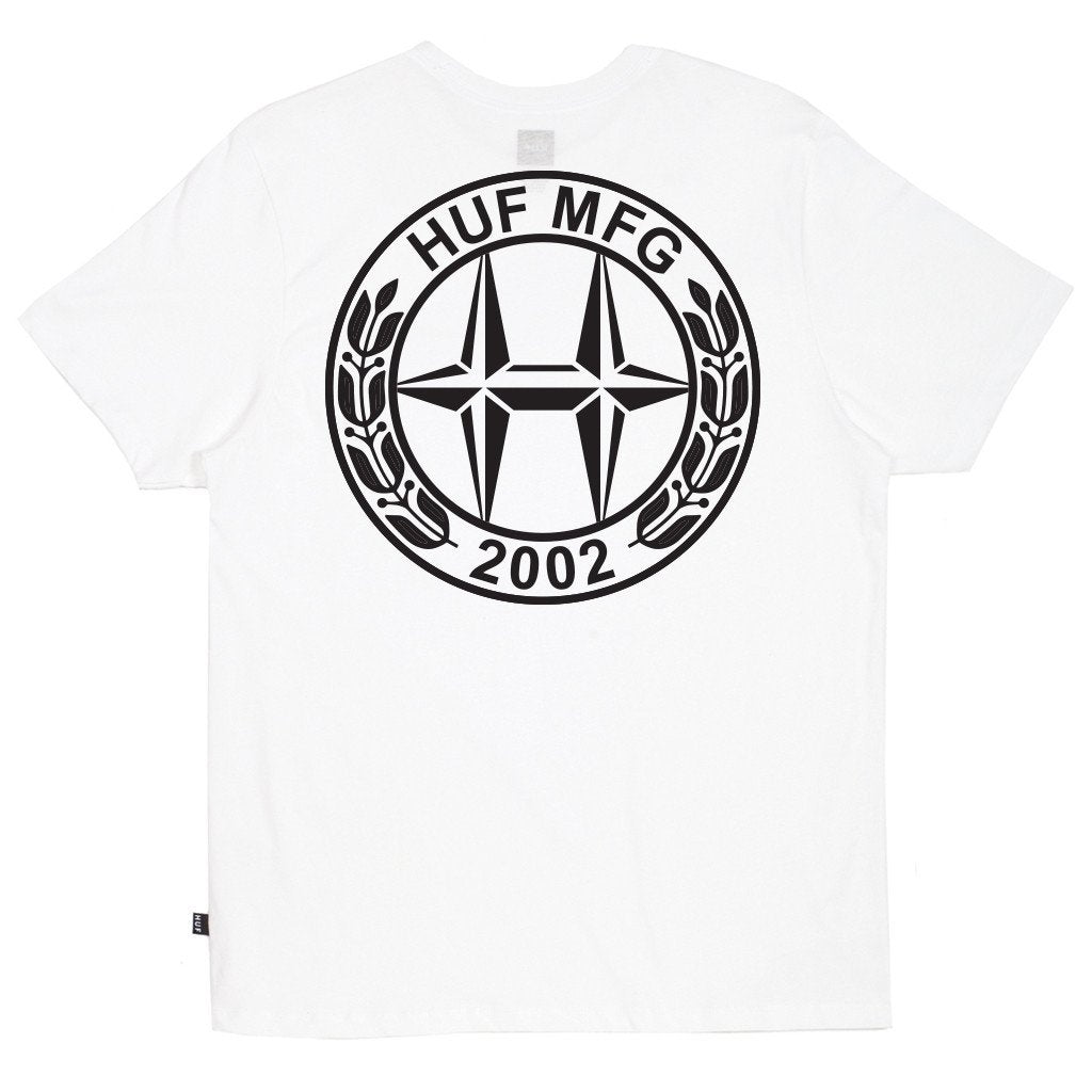 HUF H-CLASS TEE // WHITE-The Collateral