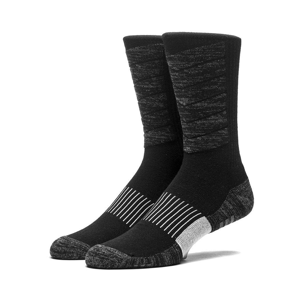 HUF PERFORMANCE PLUS CREW SOCK // BLACK-The Collateral