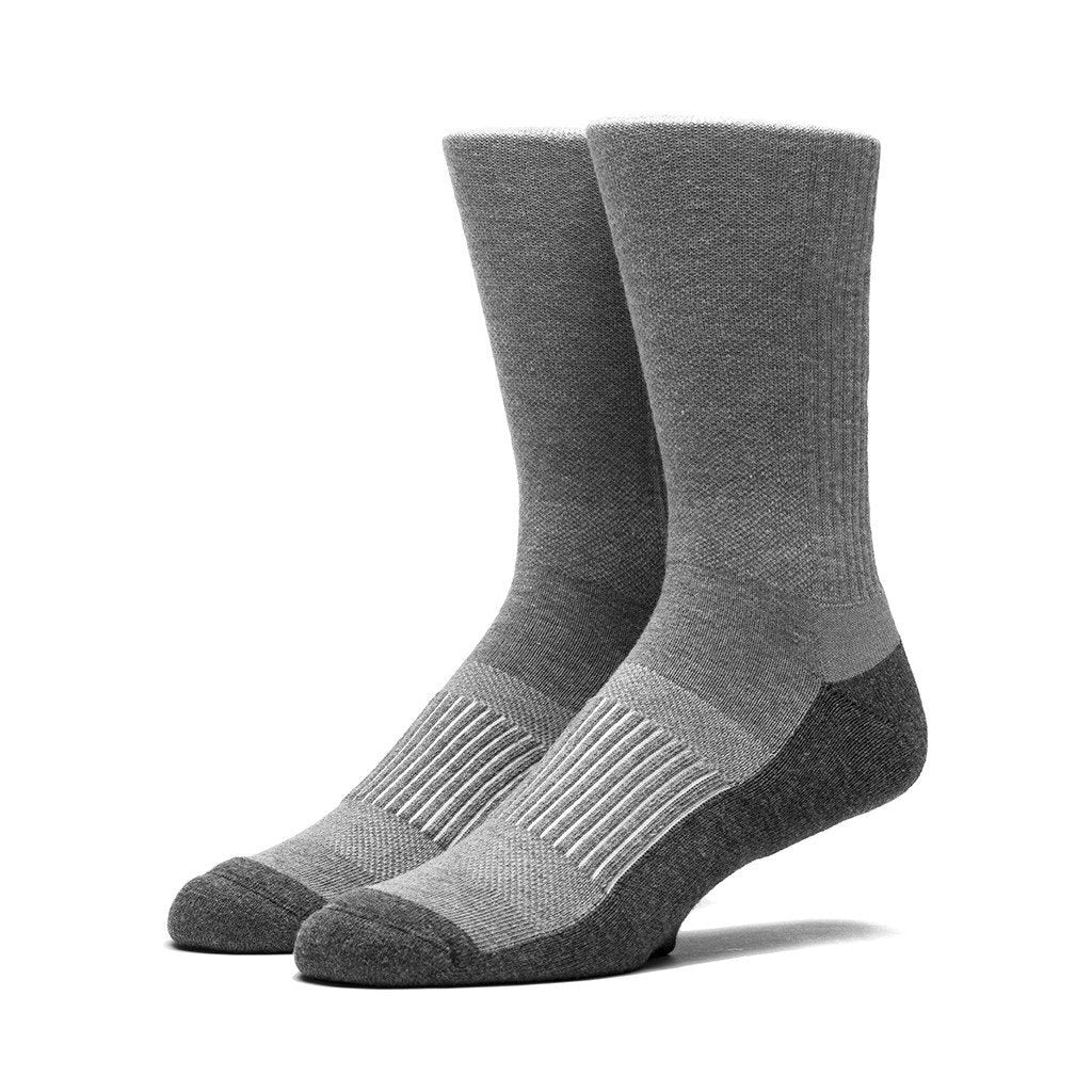 HUF PERFORMANCE PRO CREW SOCK // GREY HEATHER-The Collateral