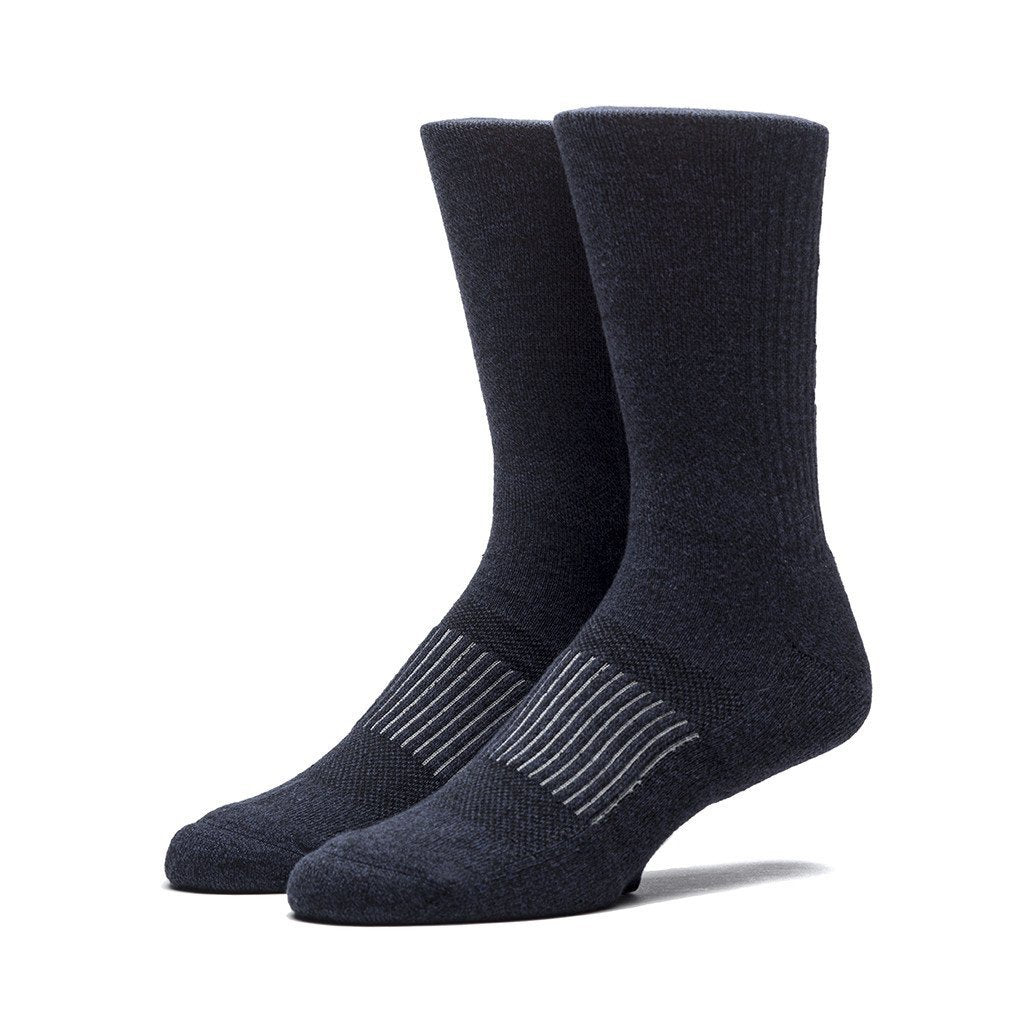 HUF PERFORMANCE PRO CREW SOCK // NAVY HEATHER-The Collateral