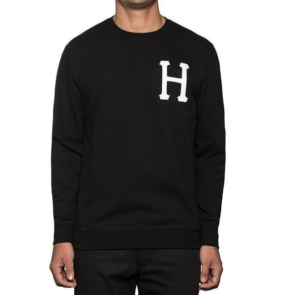 HUF PT FLEECE CREW // BLACK-The Collateral