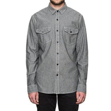 HUF RUSH HOUR CHAMBRAY L/S SHIRT // BLACK-The Collateral