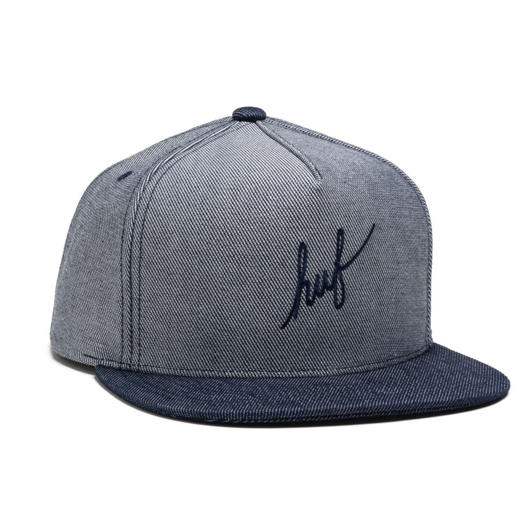HUF SCRIPT CHAMBRAY SNAPBACK // NAVY-The Collateral