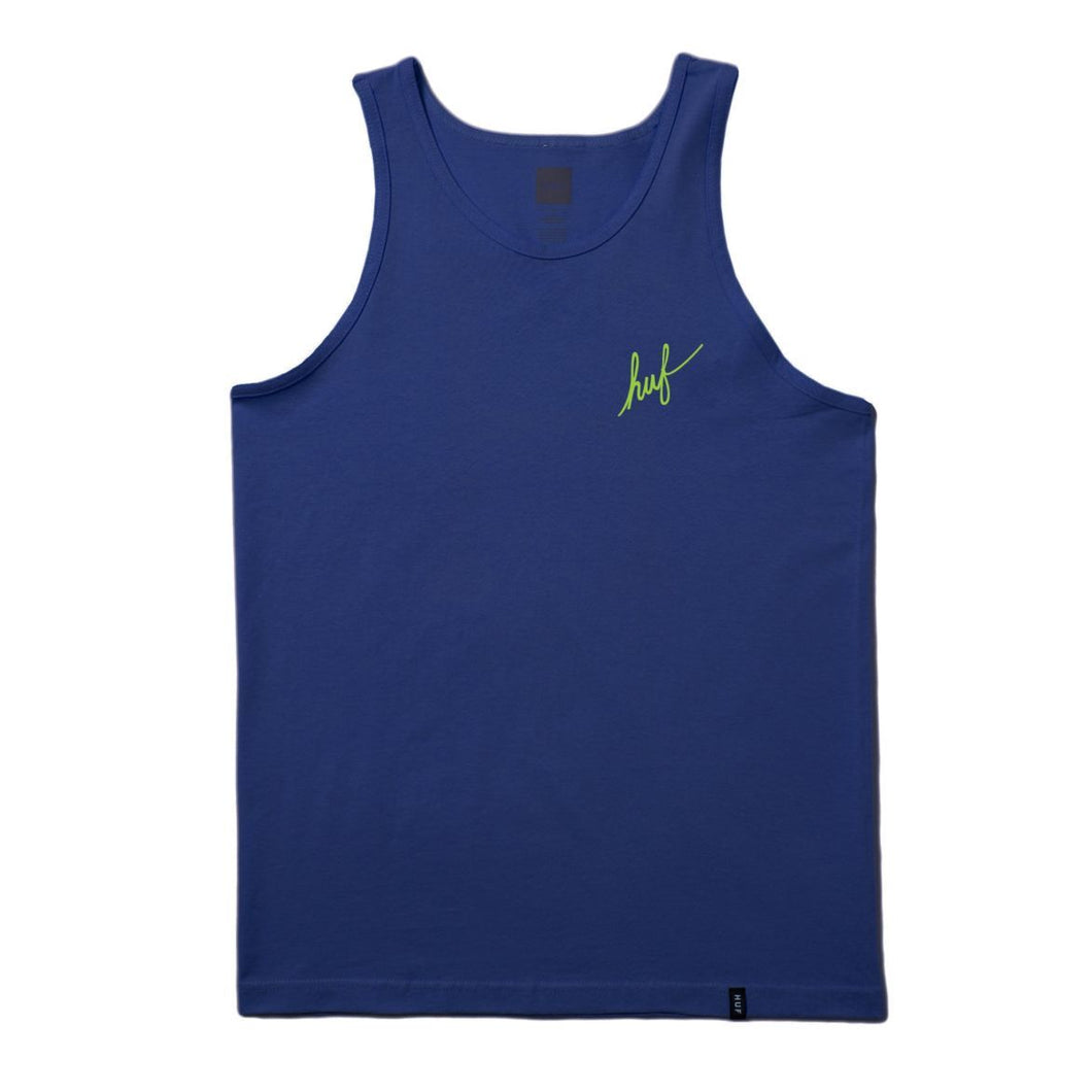 HUF SCRIPT EMBROIDERED TANK // NAVY-The Collateral