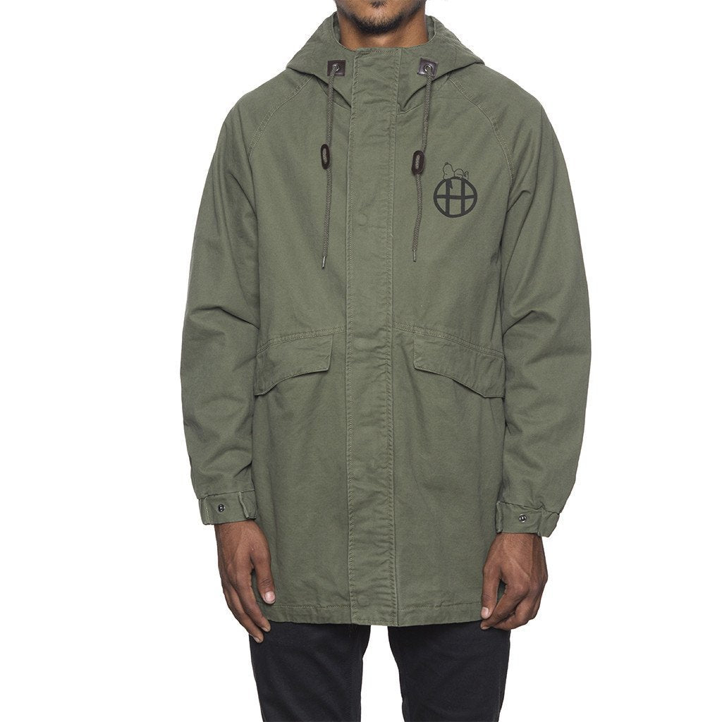 HUF SPIKE SCRAWL PARKA \\ OLIVE-The Collateral