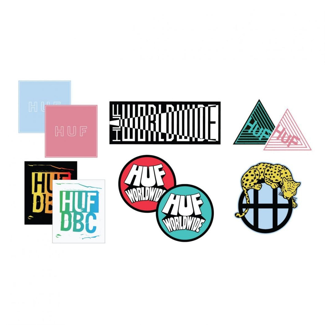 HUF STICKER PACK (10 PACK ASSORTED)-The Collateral