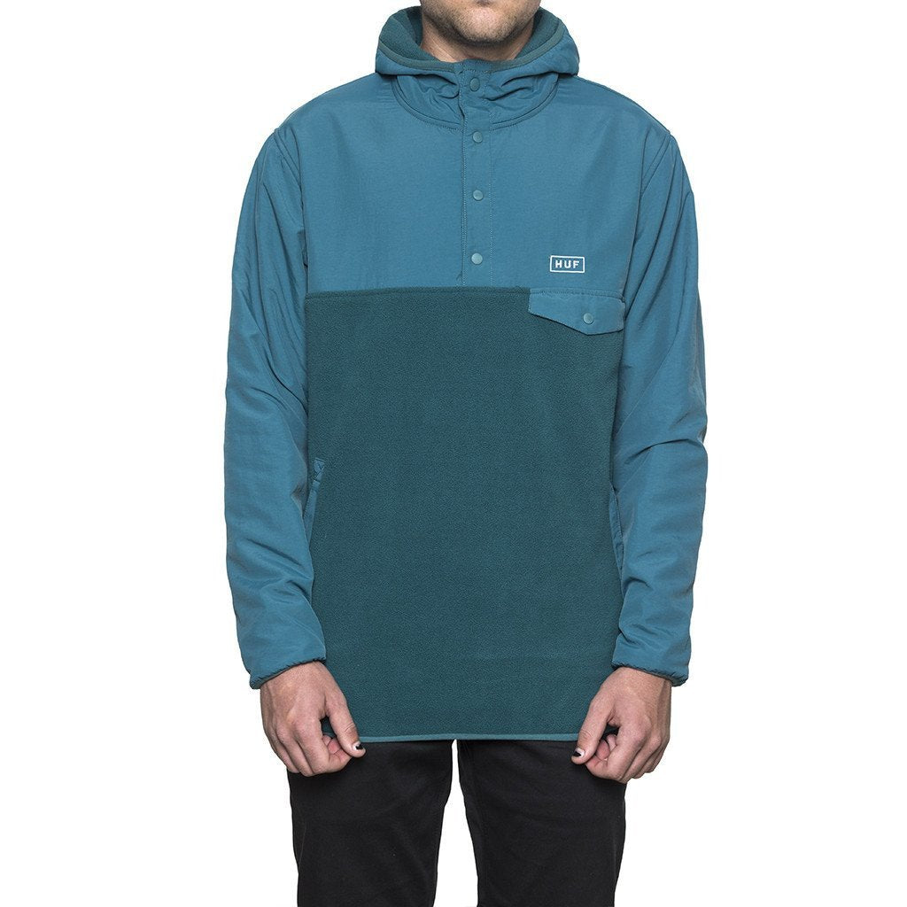 HUF TOFINO HOODED POLAR PULLOVER \\ JADE-The Collateral