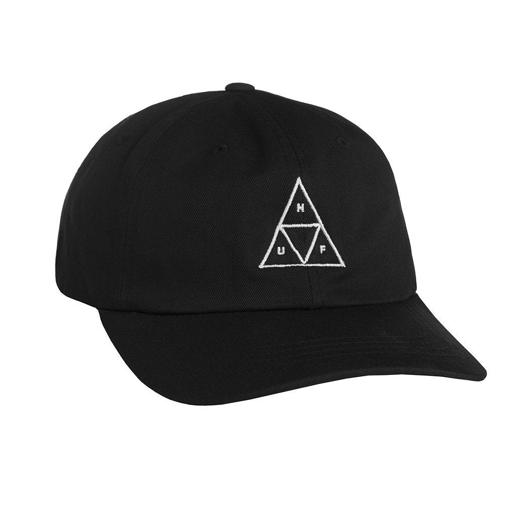 HUF TRIPLE TRIANGLE CURVED BRIM 6 PANEL // BLACK-The Collateral