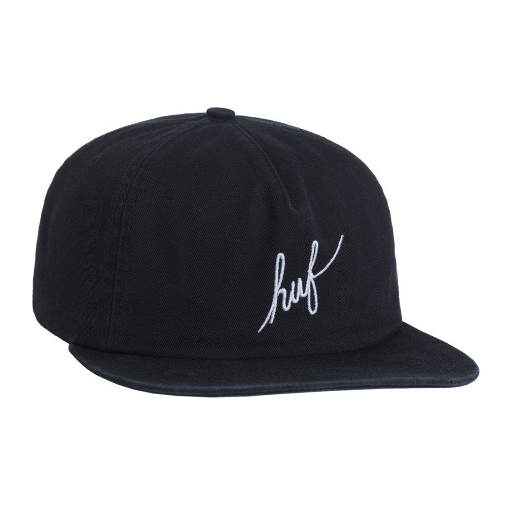HUF WASHED SCRIPT SNAPBACK // BLACK-The Collateral