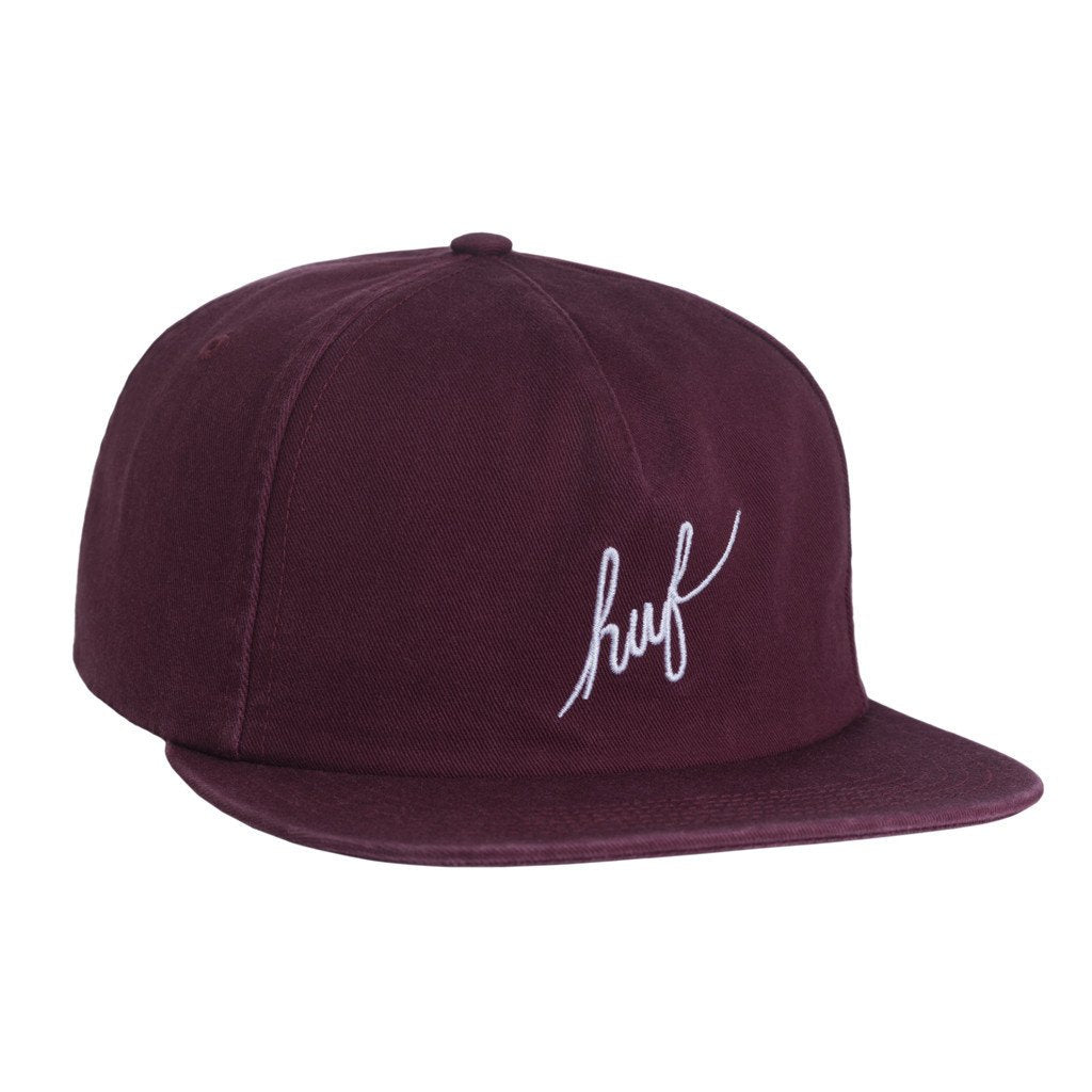 HUF WASHED SCRIPT SNAPBACK // WINE-The Collateral