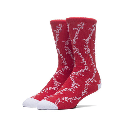 HUF X CHOCOLATE CHUNK CREW SOCKS // RED-The Collateral