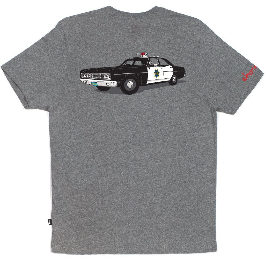HUF X CHOCOLATE SF COP CAR TEE // GRAY HEATHER-The Collateral