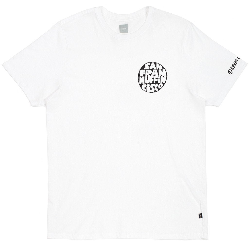 HUF X KEVIN LYONS SF TEE // WHITE-The Collateral