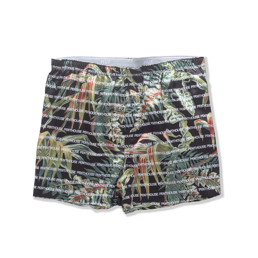 HUF X PENTHOSE SILK BOXER SHORT // PALMS-The Collateral
