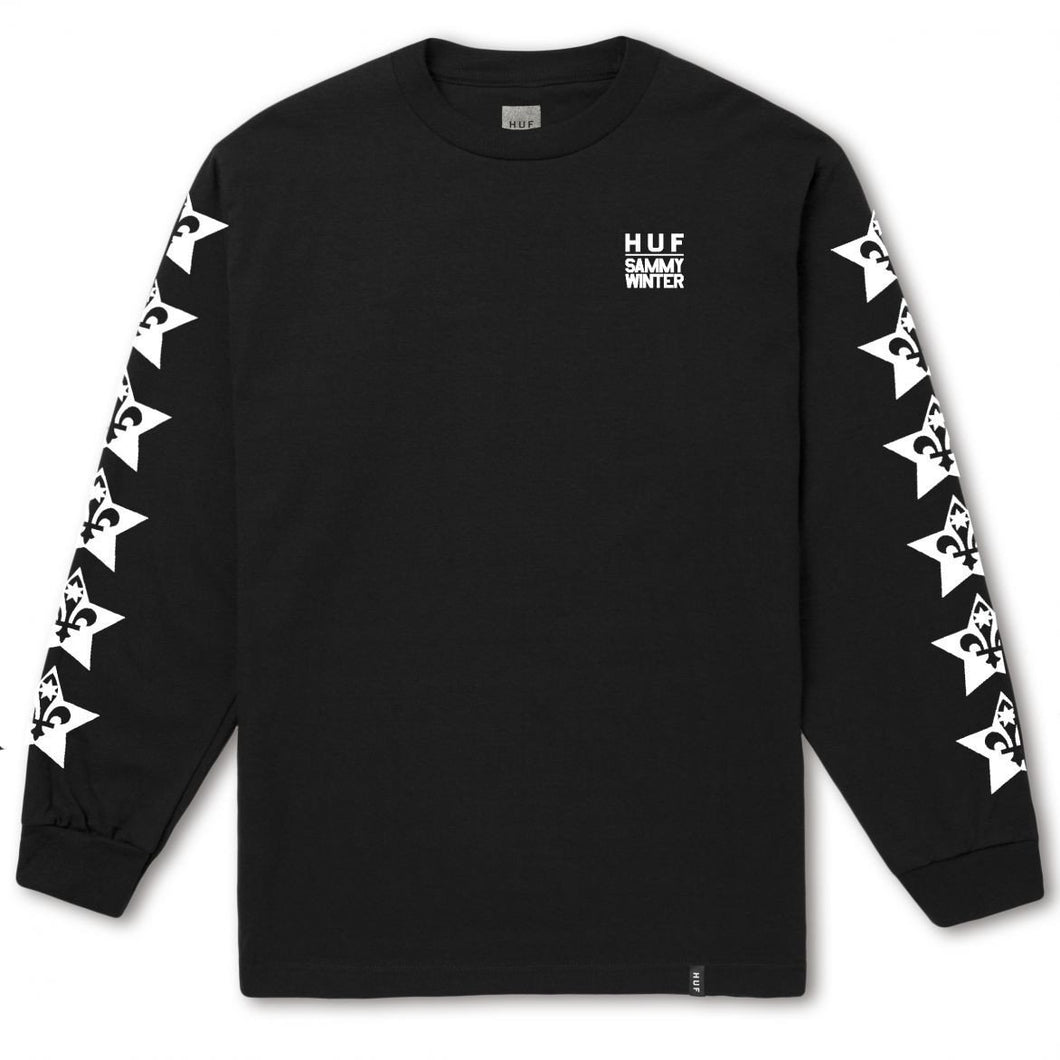 HUF X SAMMY WINTER LS TEE \\ BLACK-The Collateral