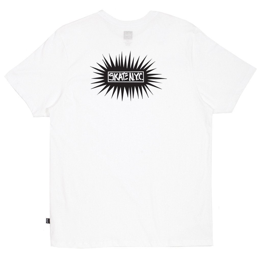 HUF X SKATE NYC BURST TEE // WHITE-The Collateral