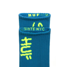 HUF X SKATE NYC CREW SOCKS // TURQUOISE-The Collateral
