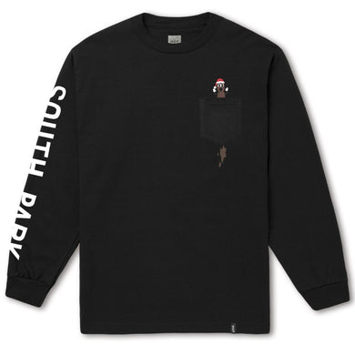 HUF X SOUTH PARK MR. HANKEY LS POCKET TEE // BLACK-The Collateral