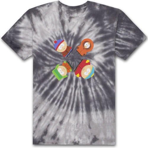HUF X SOUTH PARK TRIPPY TIE-DYE TEE // BLACK-The Collateral