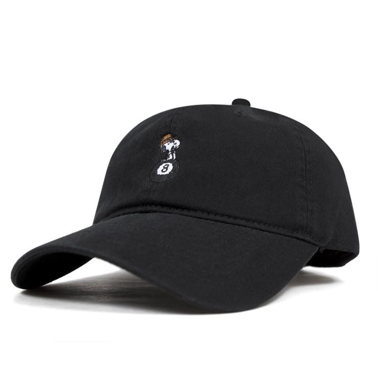 d9e619b3088 HUF X SPIKE 8 BALL CURVED BRIM HAT    BLACK-The Collateral