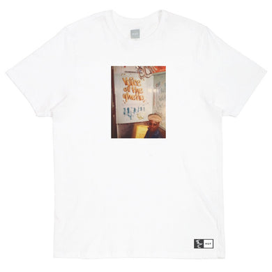 HUF X STAY HIGH 149 VOICE OF THE GHETTO TEE // WHITE-The Collateral