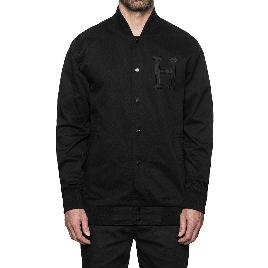 HUF X THRASHER BASEBALL JACKET // BLACK-The Collateral
