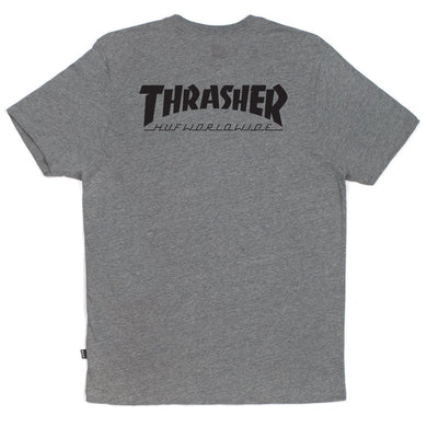 HUF X THRASHER CLASSIC H TEE // GREY HEATHER-The Collateral