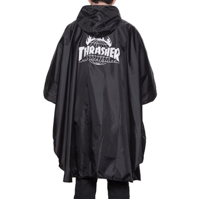 HUF X THRASHER PACKABLE PONCHO \\ BLACK-The Collateral