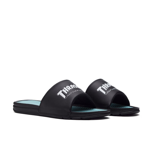 HUF X THRASHER SLIDE \\ BLACK/MINT-The Collateral
