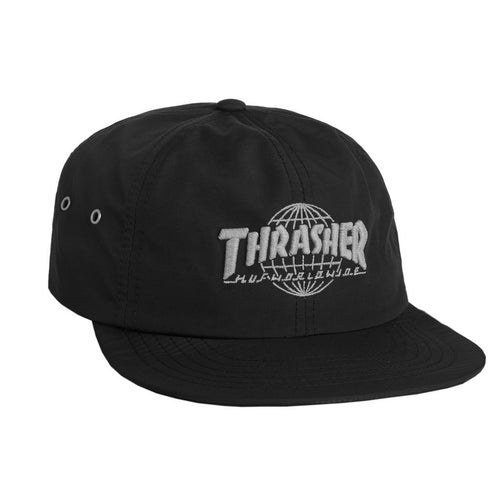 HUF X THRASHER TDS 6 PANEL    BLACK-The Collateral 43b621f4b2a9