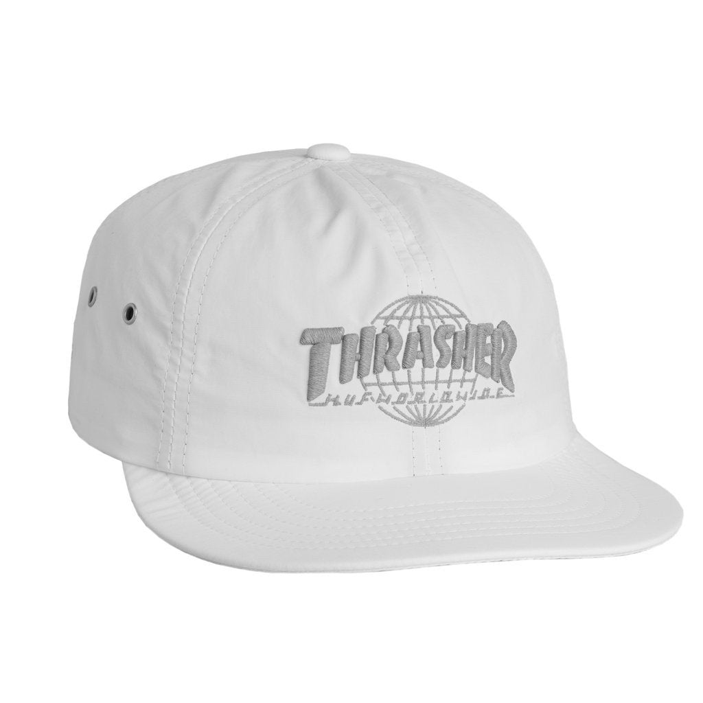 HUF X THRASHER TDS 6 PANEL \\ WHITE-The Collateral