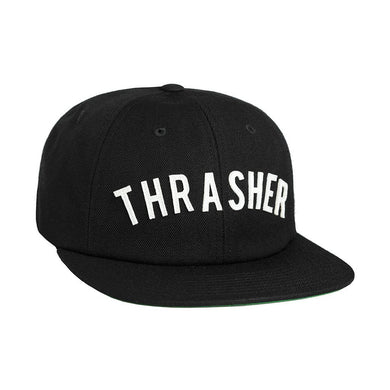 HUF X THRASHER VINTAGE BASEBALL 6 PANEL // BLACK-The Collateral