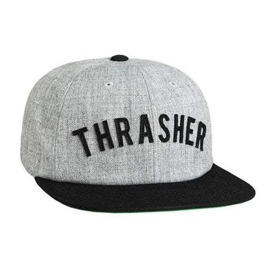 HUF X THRASHER VINTAGE BASEBALL 6 PANEL // GRAY HEATHERR-The Collateral