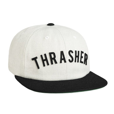 HUF X THRASHER VINTAGE BASEBALL 6 PANEL // WHITE-The Collateral